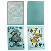 Tally Ho Reverse Circle back (Mint Blue) Limited Ed. by Aloy Studios / USPCC - Playing Cards - Madanai Magic