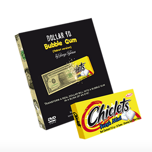 Dollar to Bubble Gum (Chiclets) by Twister Magic - Trick