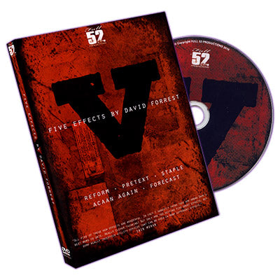 V: Five Effects by  David Forrest - DVD