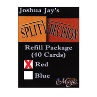 REFILL Red for Split Decision by Joshua Jay - Trick