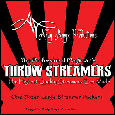 Throw Streamers by Andy Amyx( 1dozen=1 unit)- Trick