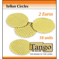 Teflon Circle 2 Euro size (10 units w/DVD) by Tango - Trick (T003)