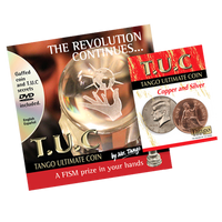 Tango Ultimate Coin (T.U.C)(D0110) Copper and Silver with instructional DVD by Tango - Trick