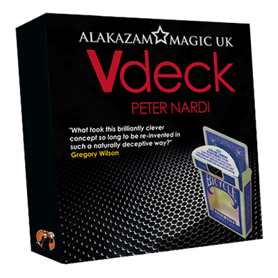 V Deck Blue (with DVD and Gimmick) by Peter Nardi - Trick