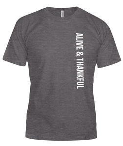 Alive & Thankful Unisex T-Shirt - VERTICAL
