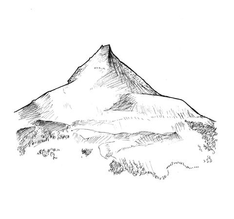 Vinson Massif Ink Art