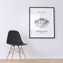 Load image into Gallery viewer, Aconcagua Seven Summits  Mountain Poster Wall Art