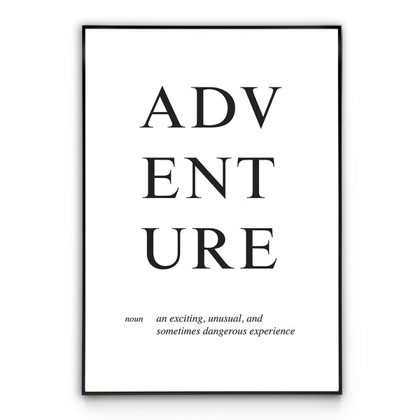 Adventure  - Word - Wall Art Poster