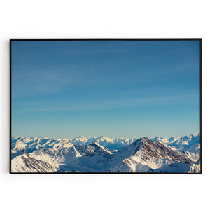 Frame Alps Mountain Poster Wall Art Print Decor Home Office