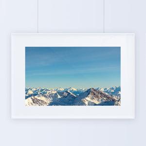 Framed Poster Alps Mountains Wall Art Adventure Decor