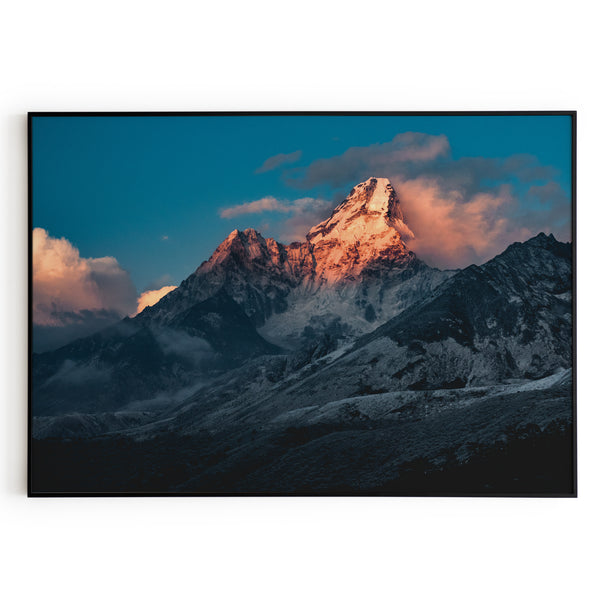 Frame Poster Ama Dablam Wall Art Adventure Decor