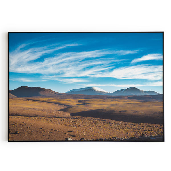 Mountains Desert Hills Blue Mountain Poster Wall Art Print Decor Home Office
