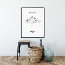 Load image into Gallery viewer, Mount Baker Poster Wall Art