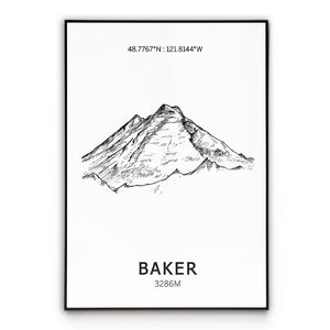 Mount Baker Poster Wall Art