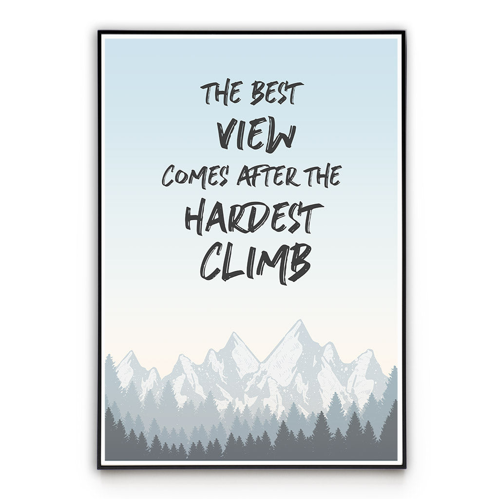 Best View - Quote - Wall Art Poster