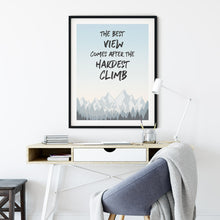 Load image into Gallery viewer, Best View - Quote - Wall Art Poster