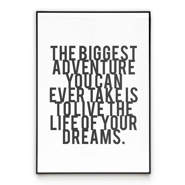 Live Your Dreams - Quote Wall Art Poster