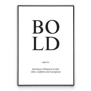 Bold - Word Poster Wall Art