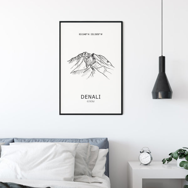Denali Seven Summits  Mountain Poster