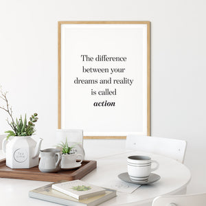 Take Action - Quote Poster Wall Art
