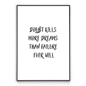 No Doubt  - Quote Poster Wall Art