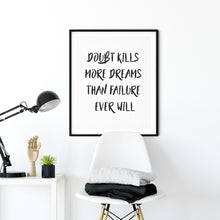 Load image into Gallery viewer, No Doubt  - Quote Poster Wall Art