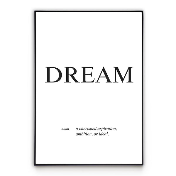 Dream - Word Poster Wall Art