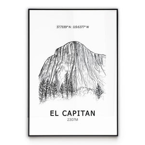 El Capitan Poster Wall Art
