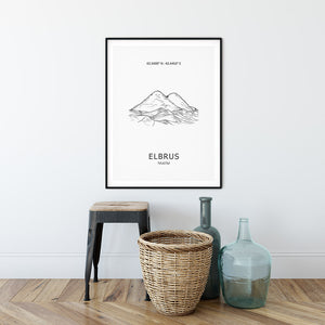 Elbrus Seven Summits Mountain Poster