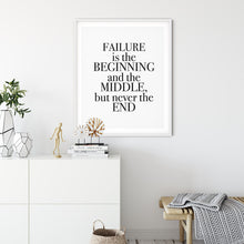 Load image into Gallery viewer, Failure Story - Quote Poster Wall Art