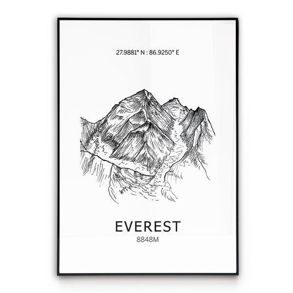 Everest Poster Wall Art
