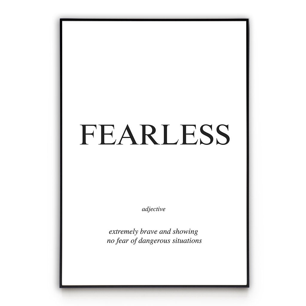 Fearless - Word Poster Wall Art