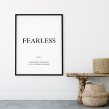 Load image into Gallery viewer, Fearless - Word Poster Wall Art