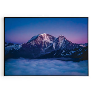 Elbrus Caucasus Clouds Floating Poster Wall Art Print Decor Home Office