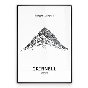 Mount Grinnell Poster Wall Art