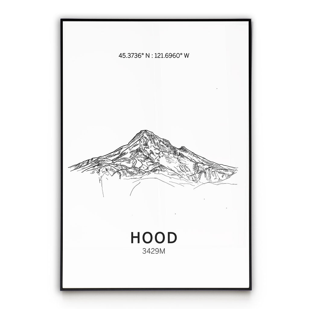 Mount Hood Poster Wall Art