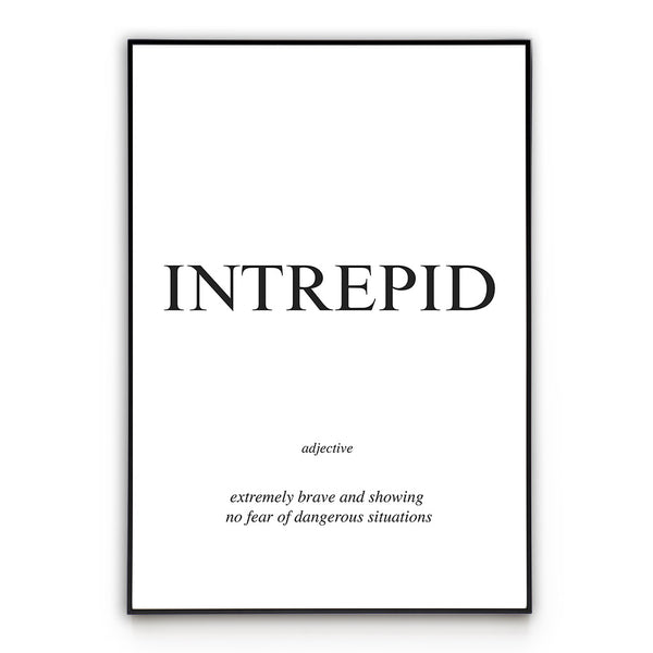 Intrepid - Word Poster Wall Art