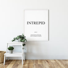 Load image into Gallery viewer, Intrepid - Word Poster Wall Art