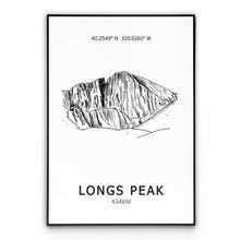 Load image into Gallery viewer, Longs Peak Poster Wall Art