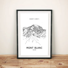 Load image into Gallery viewer, Mont Blanc Poster Wall Art