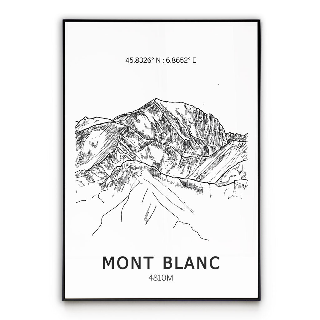 Mont Blanc Poster Wall Art