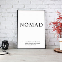 Load image into Gallery viewer, Nomad - Word Wall Art Poster