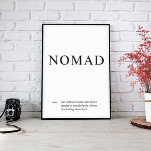 Nomad - Word Wall Art Poster