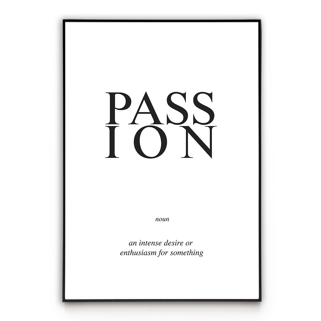 Passion - Word Poster Wall Art
