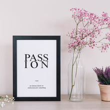 Load image into Gallery viewer, Passion - Word Poster Wall Art