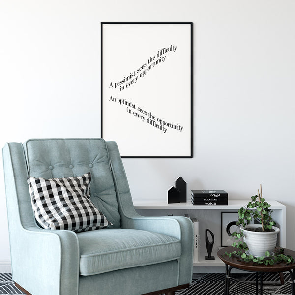 Optimist - Quote Poster Wall Art