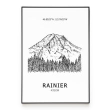 Load image into Gallery viewer, Mount Rainier Poster Wall Art
