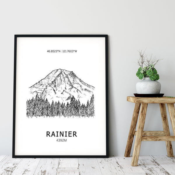 Mount Rainier Poster Wall Art