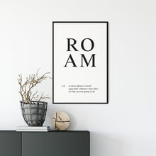 Load image into Gallery viewer, Roam Poster Wall Art