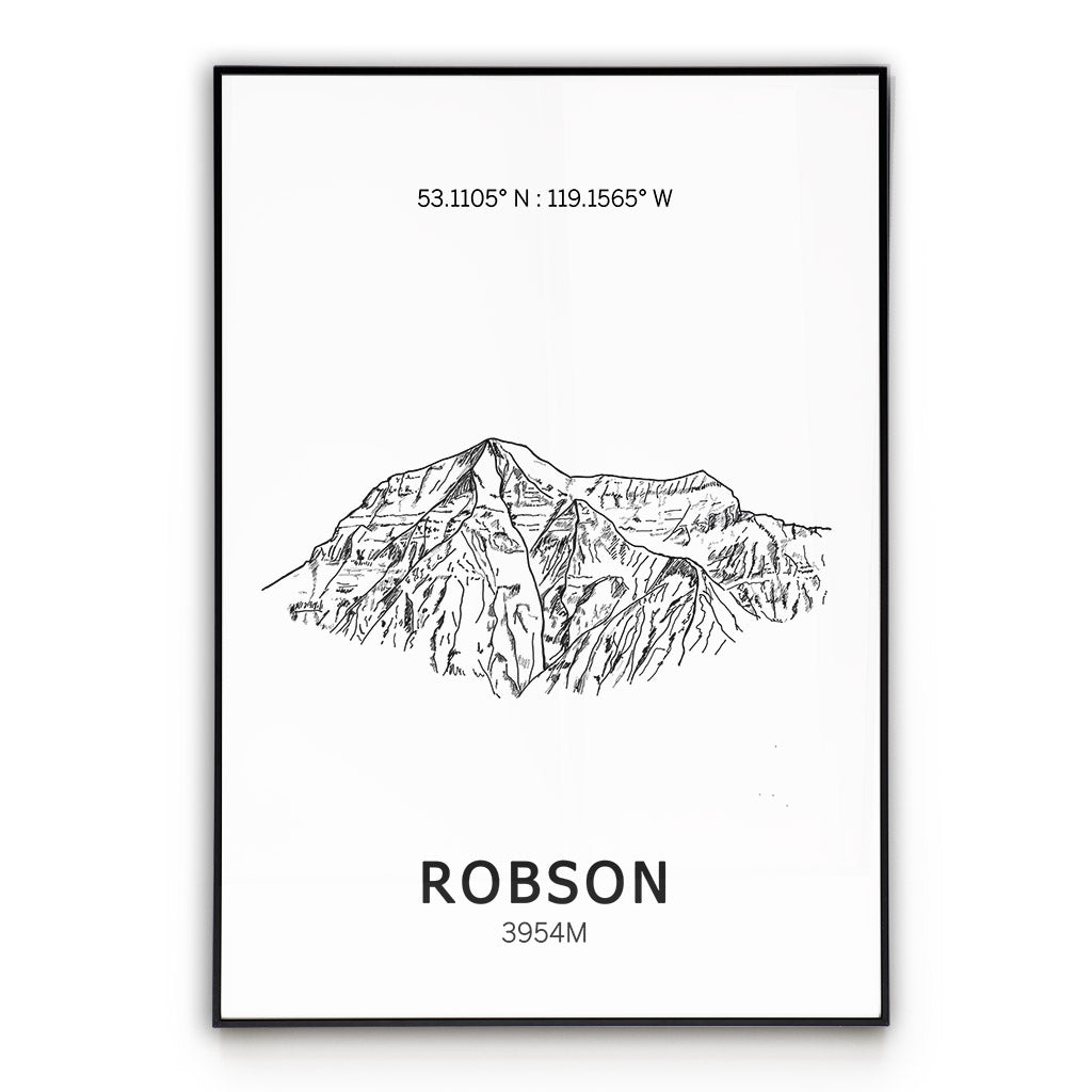 Mount Robson Poster Wall Art